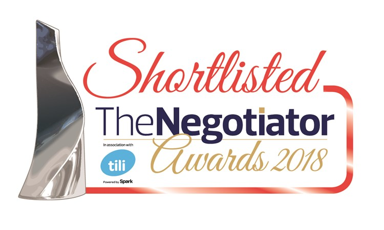 The Negotiator Awards 2018 Shortlist is announced! And we are on it!